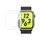 Full Coverage Plating TPU Case for Apple Watch Series 4 40mm (Transparent)