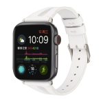 Simple V-shaped Leather Strap for Apple Watch Series 4 40mm & Series 3 & 2 & 1 38mm (White)