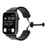 Simple 316 Stainless Steel Embossed Bracelet Watchband for Apple Watch Series 4 & 3 & 2 & 1 (Black)