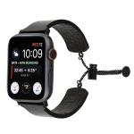 Simple 316 Stainless Steel Embossed Bracelet Watchband for Apple Watch Series 4 & 3 & 2 & 1 (Black)