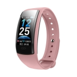 QS90 Plus 0.96 inch TFT HD Color Screen Smart Bracelet IP67 Waterproof, Support Call Reminder/ Heart Rate Monitoring /Blood Pressure Monitoring/ Sleep Monitoring/Blood Oxygen Monitoring (Pink)