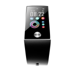 S28 1.14 inch TFT Color Screen IPX67 Waterproof Bluetooth Smartwatch, Support Call Reminder/ Heart Rate Monitoring /Blood Pressure Monitoring/ Sleep Monitoring (Black)