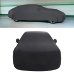 Anti-Dust Anti-UV Heat-insulating Elastic Force Cotton Car Cover for Business Car, Size: 4.8m~5.15m (Black)
