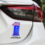 Universal Car Australia Flag Number 1 Shape Metal Decorative Sticker
