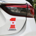 Universal Car Canada Flag Number 1 Shape Metal Decorative Sticker