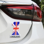 Universal Car UK Flag Number 1 Shape Metal Decorative Sticker