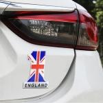 Universal Car UK Flag Number 1 Shape Metal Decorative Sticker