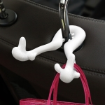 Universal Car Seat Back Bag Hanger Holder Auto Headrest Luggage Hook (White)