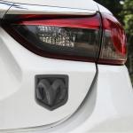 Bull Pattern Car Metal Body Decorative Sticker,Size : M (Black)