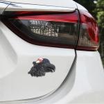 Eagle Head Pattern Car Metal Body Decorative Sticker (Black)