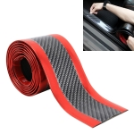 Universal Electroplate Carbon Fibre Car Door Threshold Decoration Strip Decorative Sticker, Size : 5CM x 2M (Red)