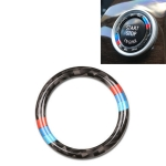 Car Carbon Fiber Hard Panel Engine Start Key Push Button Ring Trim Decorative Sticker for BMW E90 / E92 / E93  2005-2012