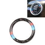 Car Carbon Fiber Hard Panel Engine Start Key Push Button Ring Trim Decorative Sticker for BMW E90 / E92 / E93  2005-2012