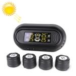 Universal Car Wireless Solar Energy TPMS Tire Pressure Alarm System External Tire Monitor