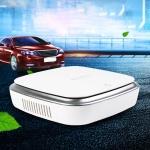 XJ-002 Car / Household Smart Touch Control Air Purifier Negative Ions Air Cleaner (White)