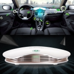 BL-001 Car / Household Smart Touch Control Air Purifier Negative Ions Air Cleaner (White)