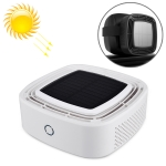 XJ-005 Car / Household Solar Energy Smart Touch Control Air Purifier Negative Ions Air Cleaner (White)