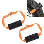 2 PCS Universal Car Snow Chains Mud Tires Traction Mat Wheel Chain Non-slip Tracks Auto Winter Road Turnaround Tool Anti Slip Grip Tracks