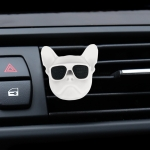 Dog Head Shape Universal Car Air Outlet Aromatherapy (White)