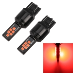 2 PCS 7443 DC9-16V / 3.5W Car Auto Brake Lights 12LEDs SMD-ZH3030 Lamps, with Constant Current (Red Light)