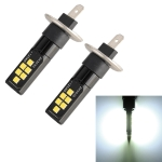2 PCS H1 DC9-16V / 3.5W / 6000K / 320LM Car Auto Fog Light 12LEDs SMD-ZH3030 Lamps, with Constant Current (White Light)