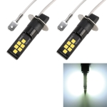 2 PCS H3 DC9-16V / 3.5W / 6000K / 320LM Car Auto Fog Light 12LEDs SMD-ZH3030 Lamps, with Constant Current (White Light)
