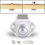 Press Type Drawer Cabinet Catch Latch Release Cupboard Door Stop Drawer Cabinet Locker for RV / Yacht / Furniture(White)
