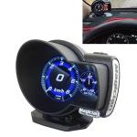 F835 Car OBD Multi-functional Digital Turbo Boost Pressure Meter Alarm Speed Oil Water Temp Gauge OBDII Code Reader Diagnostic Tool