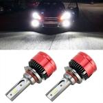 2 PCS V19 9006 / HB4 DC12-24V / 28W / 6000K / 2000LM IP65 Car LED Headlight Lamps, with 6 CSP Lamps(White Light)