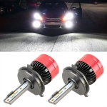 2 PCS V19 H4 DC12-24V / 28W(H) 28W(L) / 6000K / 2000LM IP65 Car LED Headlight Lamps, with 6 CSP Lamps(White Light)