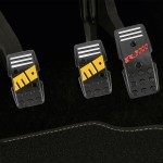 3 PCS MOMO Universal Car Automatic Transmission Car Pedals Pads (Black)
