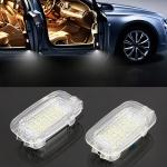 2 PCS LED Car DC 12V 1.5W 6000K 100LM Door Lights Lamps 18LEDs SMD-3528 Lamps for Mercedes Benz