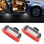 2 PCS LED Car DC 12V 1.6W Door Lights Lamps 18LEDs SMD-3528 Lamps for Volkswagen Golf 5 / 6, White Light + Red Light