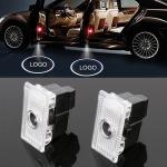 2 PCS DC12V 2.6W Car Door Logo Light Brand Shadow Lights Courtesy Lamp for Tesla