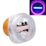 Motorcycle 30W DC 12V-85V IP66 Square Jellyfish Breathable Lamp Double Aperture LED Headlight (Pink Light)