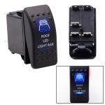 5Pin Honey Badger Pattern Universal Waterproof IP66 DC12V-24V Roof Light / Headlight Power Switch for Car RV Marine Boat