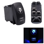 5Pin Skull Pattern Universal Waterproof IP66 DC12V-24V Tail Light / Headlight Power Switch for Car RV Marine Boat