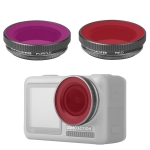 2 in 1 Sunnylife OA-FI180 Lens Red + Purple Diving Filter for DJI OSMO ACTION