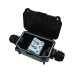 IP66 Waterproof Two-way Junction Box with 923 3-bit Press Type Terminal