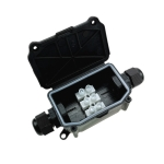 IP66 Waterproof Two-way Junction Box with PA10 3-bit Terminal