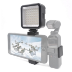 STARTRC Phone Clamp Mount Fixed Stand Bracket with LED Light  for DJI OSMO Pocket (Black)