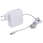 87W USB-C / Type-C Power Adapter Portable Charger with 1.8m Charging Cable, EU Plug (White)