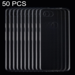 50 PCS 0.75mm Ultrathin Transparent TPU Soft Protective Case for Google Pixel 3 Lite