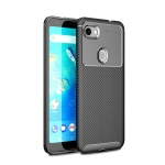 Carbon Fiber Texture Shockproof TPU Case for Google Pixel 3a XL (Black)