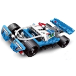 Mecfactor Racing Car Construction Building Block Toys Puzzles Intelligence Educational Police Chase Back Off-road Car