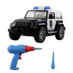 MoFun PD55-13 DIY Electric Drill Assembly Police Vehicle Children Puzzle Vehicle Toys