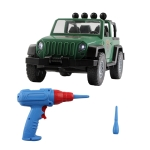 MoFun PD55-20 DIY Electric Drill Assembly Jeep Children Puzzle Vehicle Toys