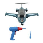MoFun PD55-16 DIY Electric Drill Assembly Aircraft Children Puzzle Vehicle Toys