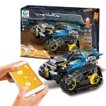 MoFun 13032 DIY Electric Track Acrobatic Racing Car Assembled Building Block Toy, Support APP Remote Control