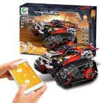 MoFun 13036 DIY Electric Track Acrobatic Racing Car Assembled Building Block Toy, Support APP Remote Control